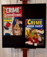FIGHT AGAINST CRIME#20+CRIME SUSPENSSTORIES#22 ARTISTS RENDITION 36 BY 36 DECAPS