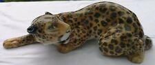 Seltene Hutschenreuther Porzellan Figur liegender Leopard Tutter 28 cm