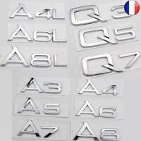 Métal Logo Audi A3 A4 A4L A5 A6 A6L A7 A8L Q3 Q5 Q7 LOGO Voiture Style Auto Car