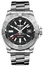 Breitling Avenger II GMT Mens Watch 43mm Stainless Steel Auto A3239011/BC35-SS3
