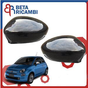 Calotte Carbonio Fiat 500 C Abarth Calotta Specchio Retrovisore 2 PZ Sx Dx