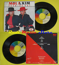 LP 45 7'' MEL & KIM Showing out System house mix 1986 italy CGD 10719 cd mc *dvd