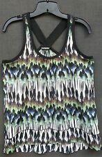 Express Small Sleeveless 100% Polyester Top Multi-color