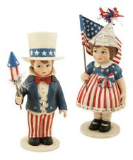 """Bethany Lowe """"Sammy and Betsy"""" (Set of 2) Patriotic Figures (TD5021)"""
