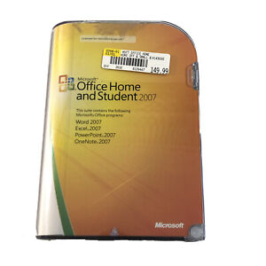 Microsoft MS Office 2007 Home and Student for 3 PCs Full English Retail Version