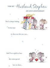 Husband Wife Cute Loving Wedding Anniversary A5 Card Personalised  Any 1st 25th