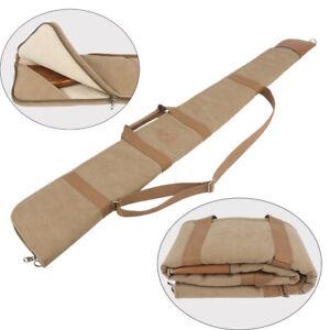 Tourbon Shotgun Carrying Case Gun Bag Sling Slip Weapon Storage-Canvas Leather