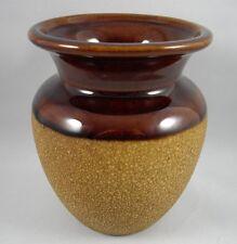 Royal Haeger Pottery Brown Earth Tones Vase w Sandy Texture Vintage USA