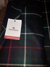Hainsworth Mckenzie pure wool kilt tartan large white check width 1.5mx 1 metre