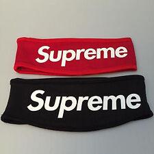 DEAD STOCK SUP Streetwear Hypebeast Black Red Fleece Headband FW/13 box logo