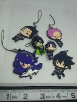 6pc Seraph of the end figure keychain strap charm anime kawaii Japan lot