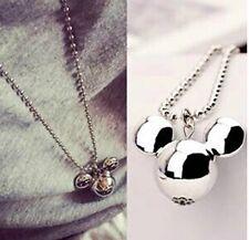 Tono Plata Colgante Collar Joyería De Disney Mickey Mouse Navidad Lindo Damas