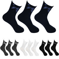 Kids Girls Women Ankle Socks With Bow School Uniform Cotton Stretch 3,6,12 Pairs