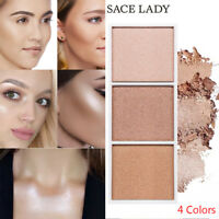 Highlighter Palette Makeup Face Contour Powder Bronzer Make Up Blusher Palette ~