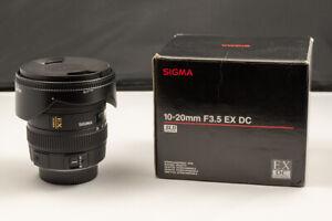 SIGMA 10-20mm F3.5 EX DC NIKON - OTTIMO - EXCELLENT!  - FORMATO DX