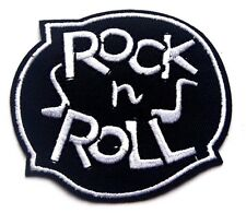 ROCK N ROLL Embroidered Iron Sew On Patch Applique Badge ELVIS BIKER GOTH HIPPY