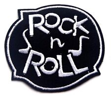 Rock n Roll Patch Embroidered Iron Sew On Applique Badge Elvis Biker Goth Music