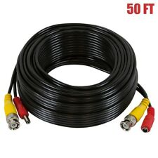 50Ft Rg59 Siamese Cable Video & Power Bnc & Dc M/F Cctv Security Camera 22Awg
