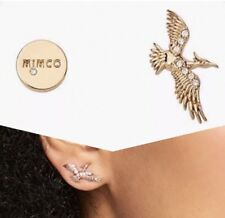 ❤️❤️❤️ Mimco Full Flight Gold Stud Earrings Brand New + Dust Bag ❤️❤️❤️