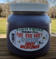 RAW HONEY WILDFLOWER 3 LBS 100% PURE LOCAL NJ/NY/PA USA (((VOLUME DISCOUNT)))