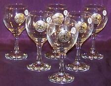 6 Verres à Vin Sceau des Templiers en Etain