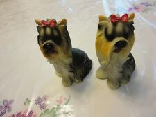 Vtg Lot of 2 /Two/ Lovely Dogs Figurines Yorkshire Terrier Animals Collectibles