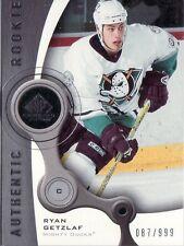 2005-06 RYAN GETZLAF SP GAME USED ROOKIE CARD 087/999