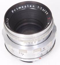 Meyer Gorlitz Primoplan 58mm f1.9 Lens For Exakta, Red V