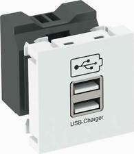 OBO Bettermann USB Ladegerät MTG-2UC2.1 SWGR1 IP20 grau Kommunikationstechnik