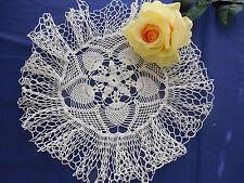 Vintage Ruffled Pineapple Doily Hand Crocheted