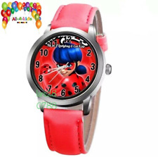 LBU🐞Miraculous Ladybug & Car Noir Mädchen Uhr Kinder Armbanduhr 🐞 Neu