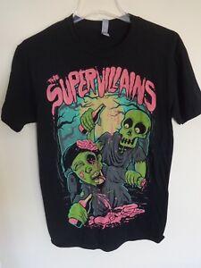 EUC The Supervillians Reggae Band Graphic Printed T-Shirt Men Small
