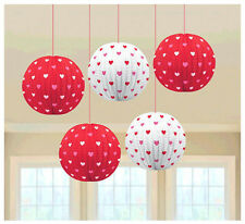 Valentine Mini Heart Printed Paper Lantern Birthday Wedding Party Decoration ~ 5