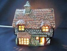 Derek Fowler Pottery Vintage Night Light, General Stores, Tudor Cottage, 1970s