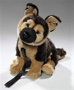 NEW PLUSH SITTING GERMAN SHEPHERD DOG WITH LEAD SOFT CUDDLY TOY PUPPY TEDDY KOT