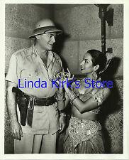"Jon Hall & Sujata Rubener Photograph ""Ramar of the Jungle"" TV 1953-1954"