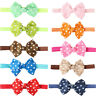 Newborn Baby Toddler Kids Hair Polka Dot Bow Hair Band Headband Head dress New
