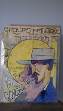 Projet Affiche 1920 Duvivier GROUPE ARTISTIQUE TELEGRAPHISTES Mayence MILITAIRE