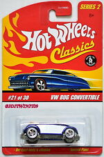 HOT WHEELS CLASSICS - SERIES 2 #21/30 - VW BUG CONVERTIBLE BLUE