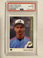 Randy Johnson Mariners Expos 1989 Upper Deck Star Rookie Card PSA 10 GEM MINT 📈