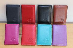 RFID Protected Leather Travel Pass Holder Oyster Train Bus Tram Rail Card