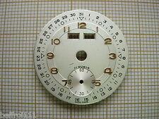 Cadran montre ancienne or vintage dial triple quantieme,complication ,26 mm