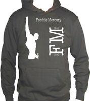 Fm10 Hooded Sweatshirt Man Freddie Mercury We Are the Champions Music