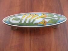 Pull Yellow Ceramic Nickel Honeysuckle Cloisonne Kitchen Cabinet Dresser PBF672Y