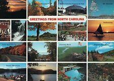 Greetings from North Carolina, NC Zoological Park, Old Salem, Lake Lure Postcard