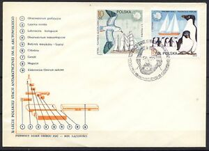 POLAND 1987 FDC SC#2782/87 Polish station in Antarctica - Antarctica animals