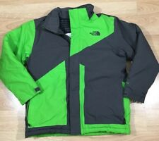 The North Face Coat Boys Size Large 14/16 Lime Green And Gray