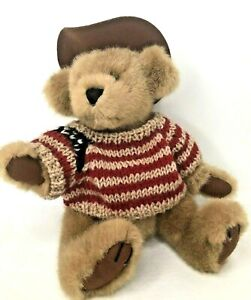 """Pickford Bears Cody 12"""" Jointed Plush American Flag Sweater Cowboy Hat Teddy"""