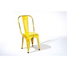 Küchenstuhl Set 4-teilig Unikat Metallstuhl Esszimmerstuhl Stühle Esszimmer gelb