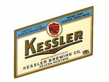 Kessler Brewing KESSLER BEER label MT 7oz Max 4% ABW
